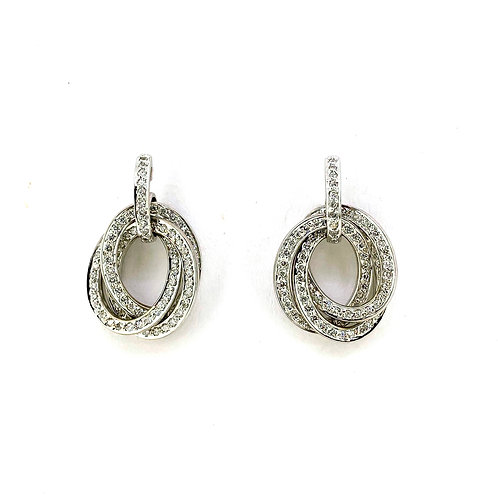Estate 18KW Diamond Earrings