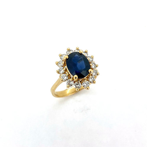 Estate 14KY Sapphire Ring