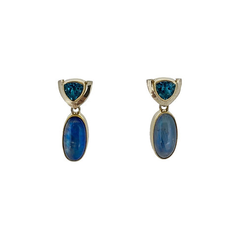 SS/22K Vermeil Gemstone Earrings