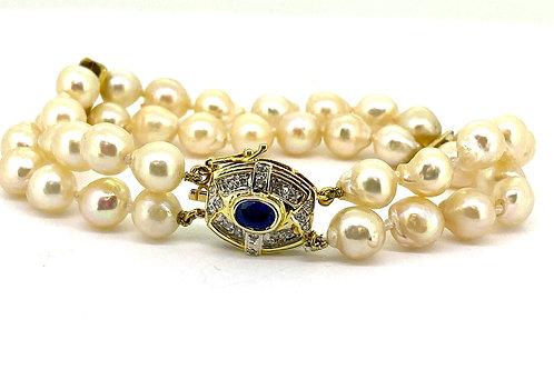 Estate 14KY Pearl Bracelet