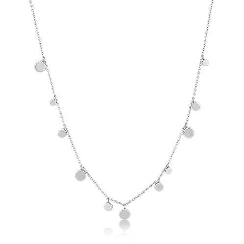 SS Mixed Discs Necklace