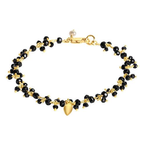 Black Spinel Beaded Bracelet