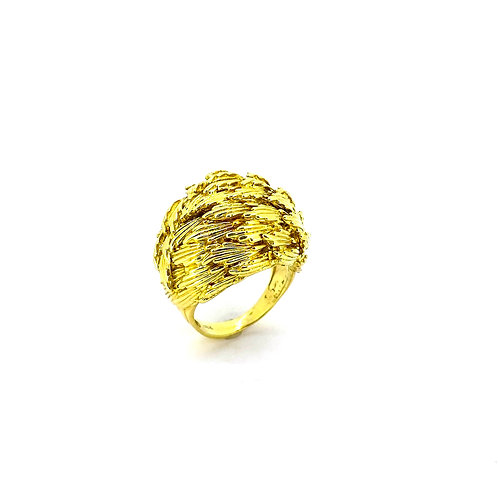 Estate 18KY Leafy Dome Ring