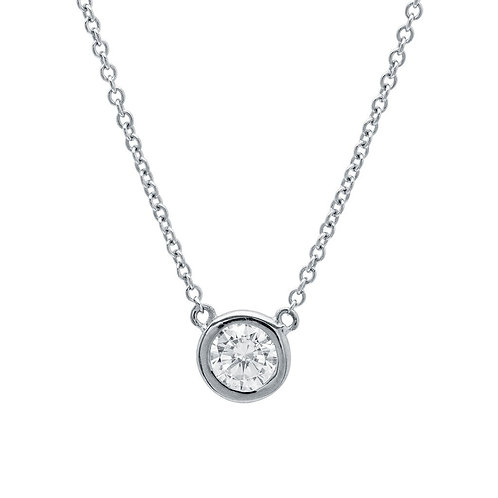 SS 0.50ct Bezel Set CZ Necklace