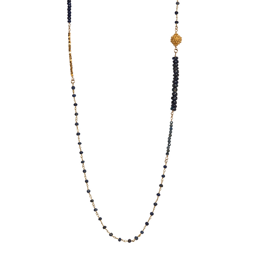Iolite and Labradorite Beaded Necklace