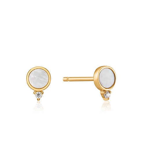 SS/GP Mother of Pearl Stud Earring