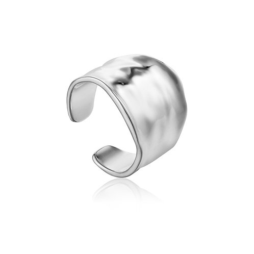 SS Crush Wide Adjustable Ring