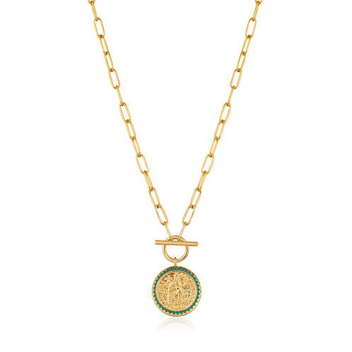 SS/GP Coin Toggle Necklace