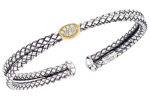 SS/18KY Traversa Cuff with Diamonds