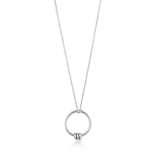 SS Modern Circle Necklace