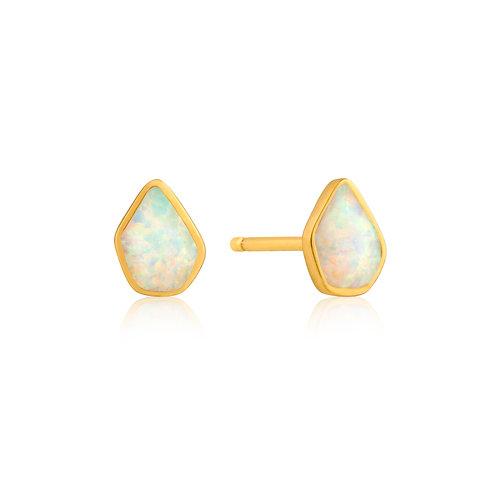 SS/GP Opal Color Stud Earrings