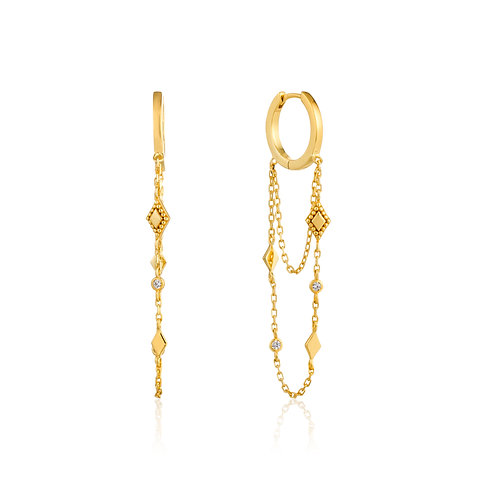 SS/GP Bohemia Chain Drop Earrings