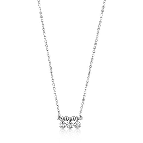 SS Triple CZ Bar Necklace