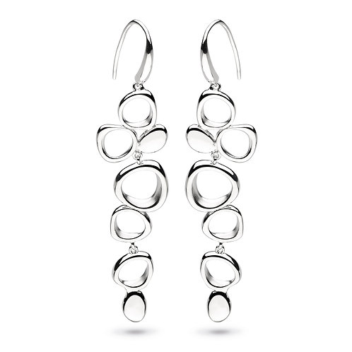 SS Cascade Sandblast Earrings