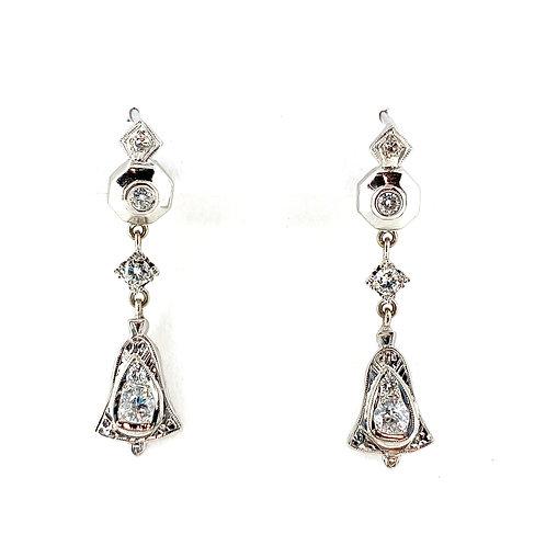 Estate 14/18KW Diamond Earrings