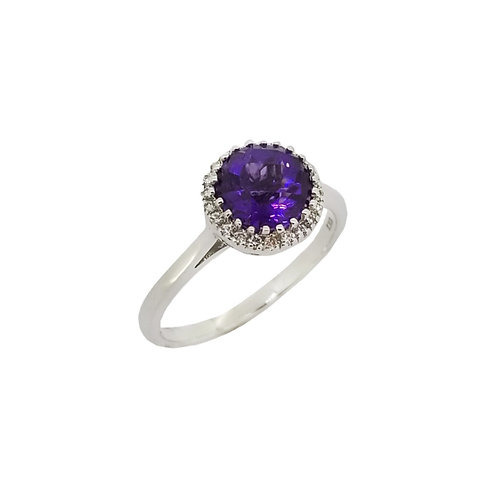 14KW Amethyst Ring