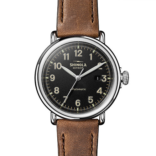 The Runwell Automatic 45MM in Tan