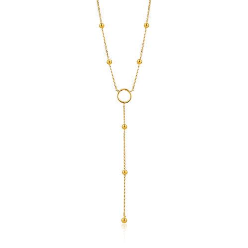 SS/GP Circle Y Necklace