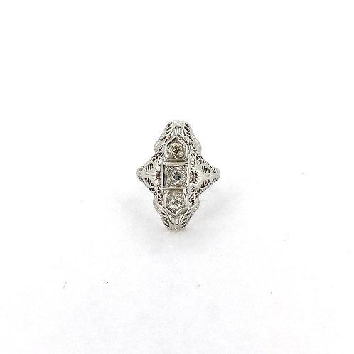 Estate 14KW Duchess Ring