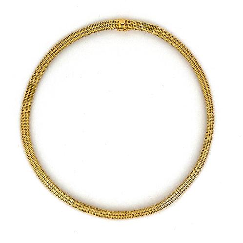 Estate 14KY Basketweave Necklace