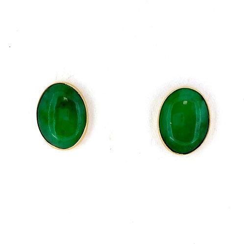 Estate 14KY Jade Earrings