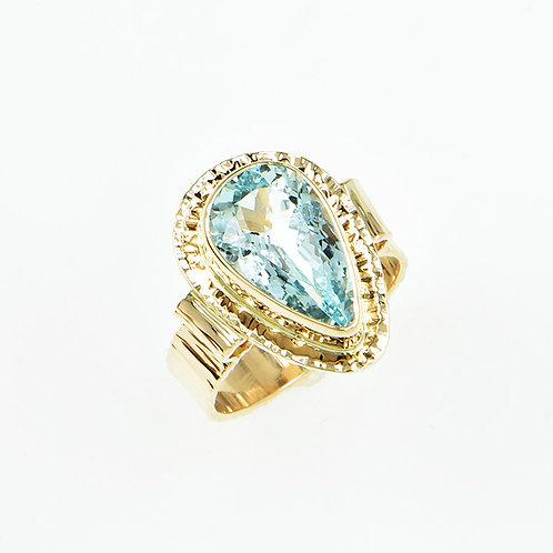 14KY Aquamarine Ring