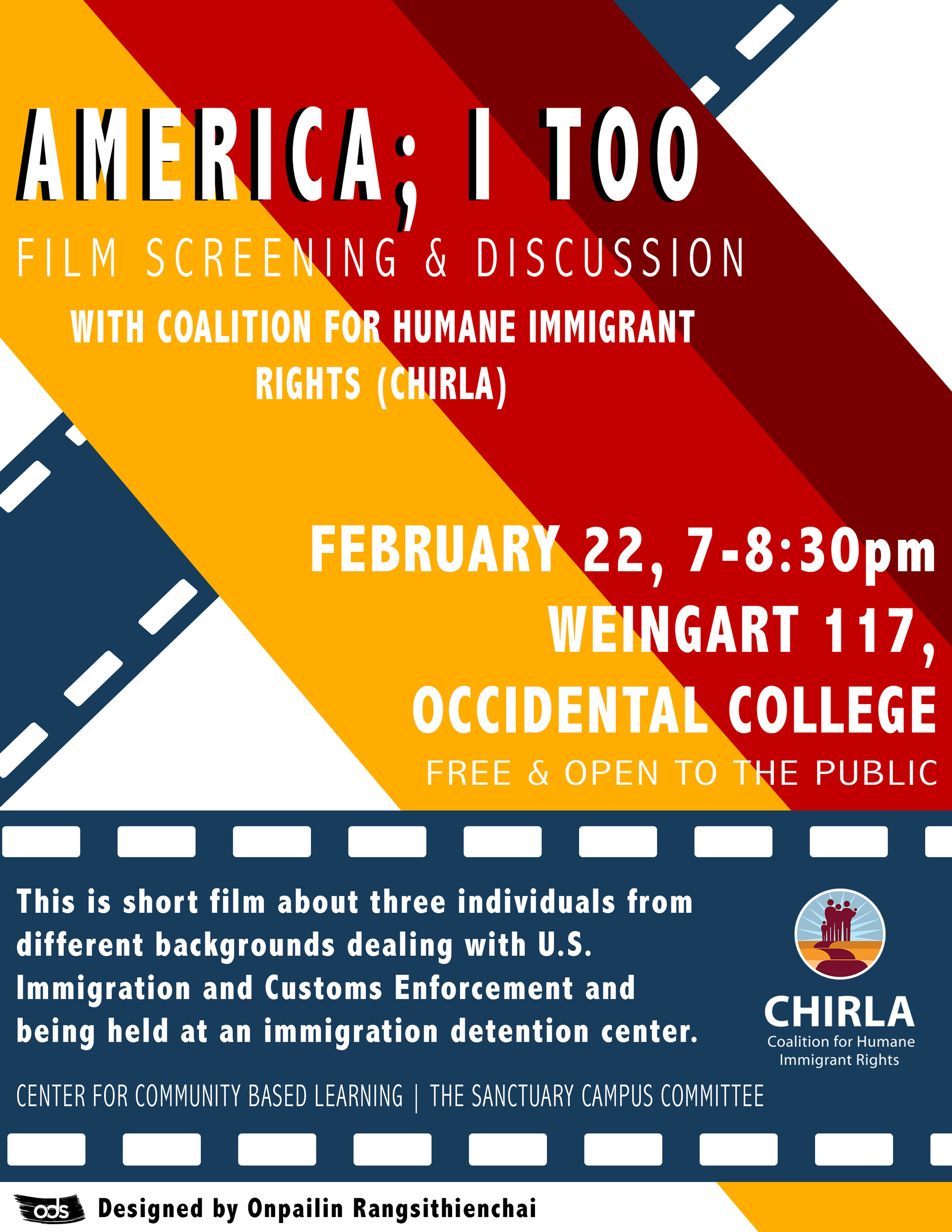 America; I too: Film screening & Discussion with Coalition for Humane Immigrant Rights (CHIRLA)