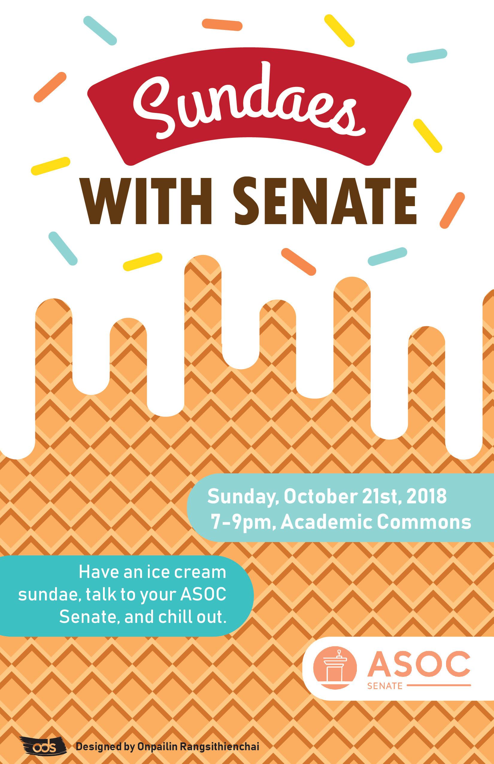 Sundaes with Senate event