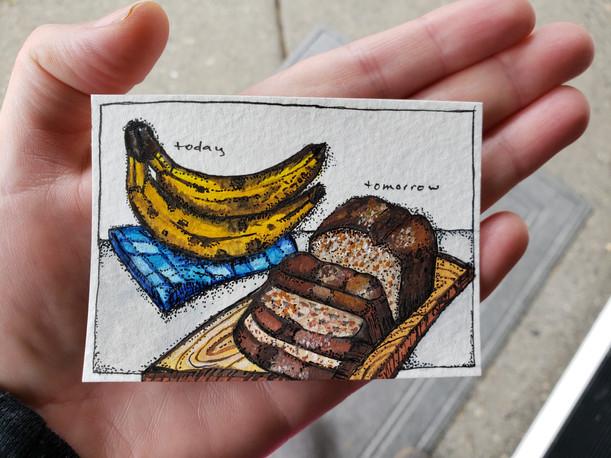 Today's bananas = tomorrow's banana bread