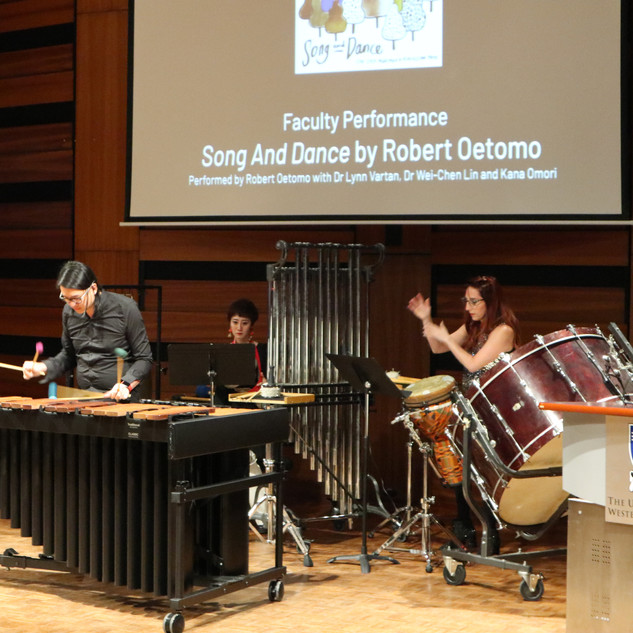 Faculty Ensemble performing 'Song and Dance' at the Opening Reception