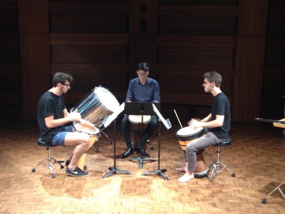 Rehearsing 'Okho'