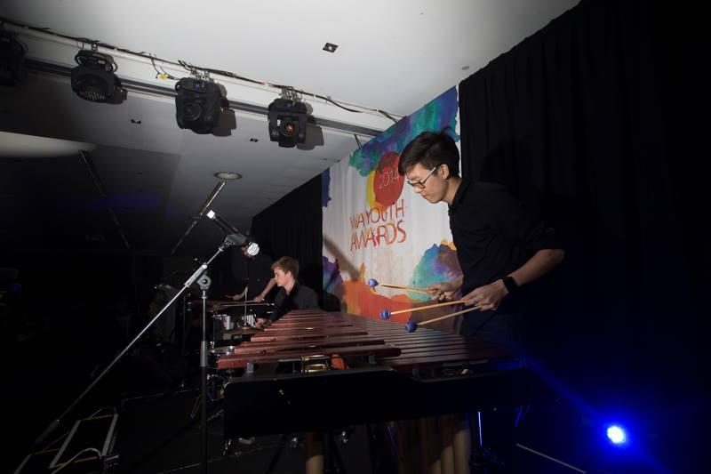 Performing at the WA Youth Awards