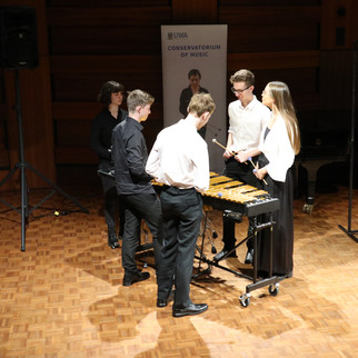 UWA's Pinata Percussion performing in the competition concert