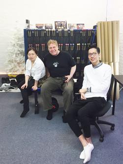 Kuniko and Gary in the studio