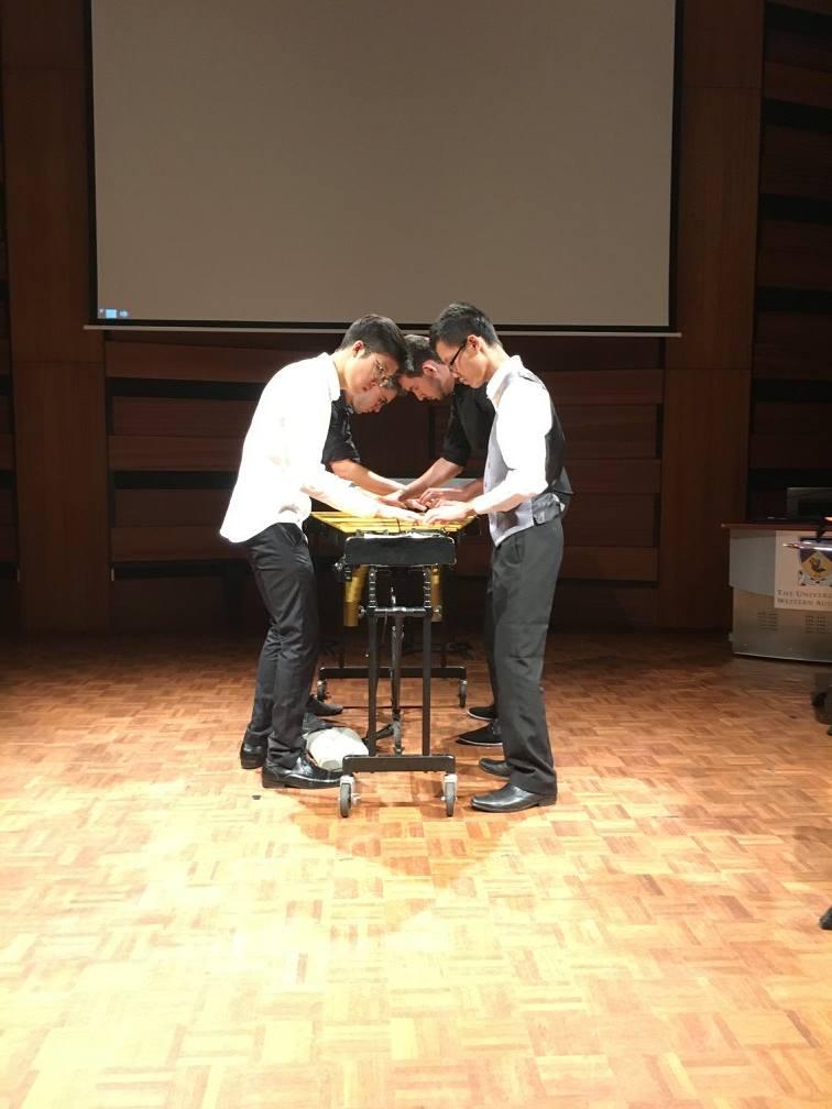 Performing 'Heavenly Muzak Machine'