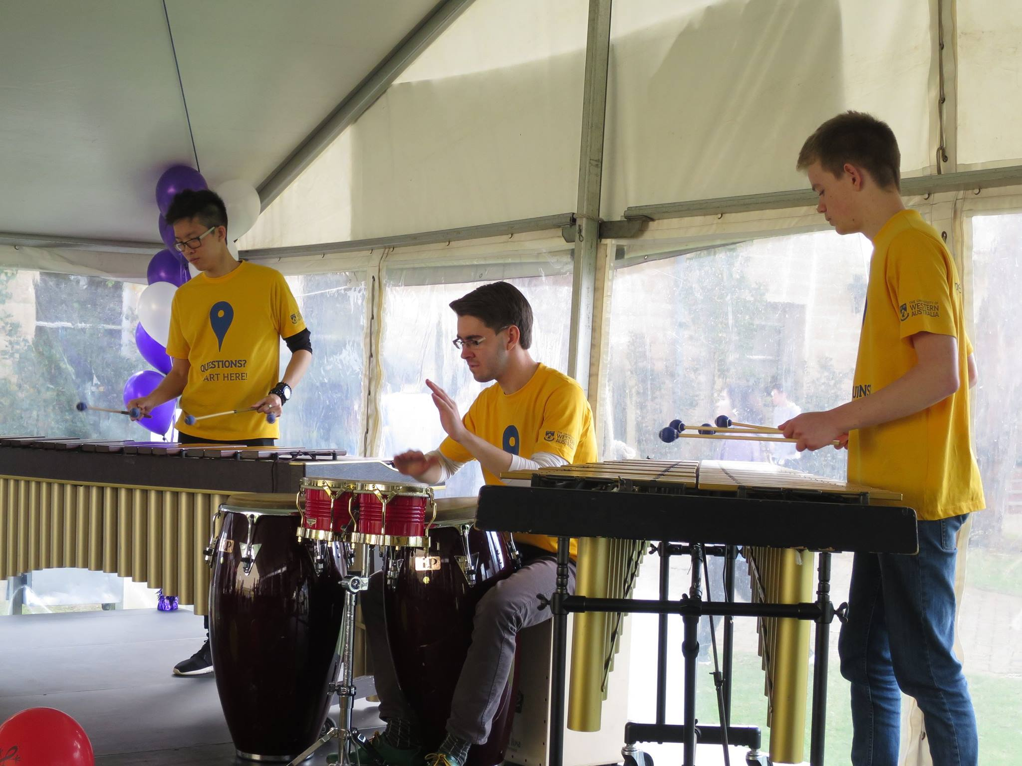 Performing at UWA Open Day