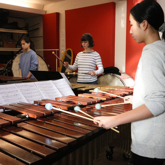 Kana Omori's ensemble rehearsing 'Jounetsu Tairiku'