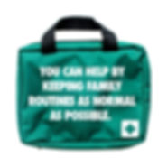 First Aid Kit green bag