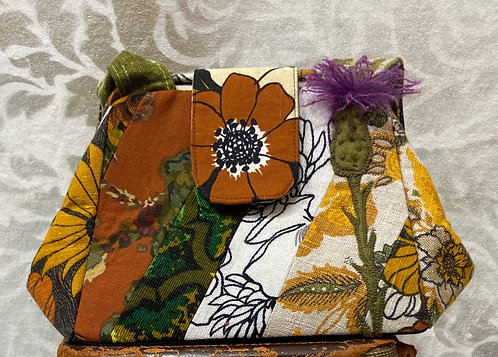 """lots of linen, fabric """"button"""" bag"""