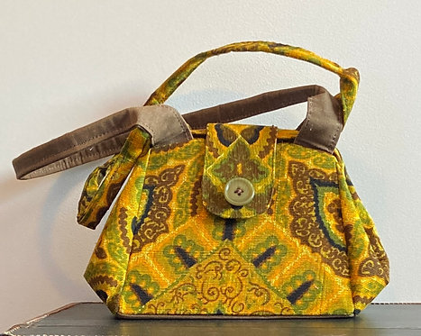 """Perfect 1970's fabric """"VOTE"""" on the back dot bag"""
