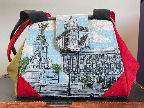 London tea towel dot bag