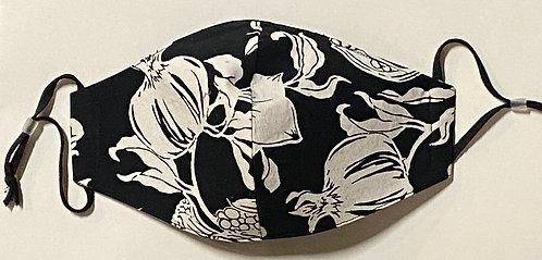 black and white pod mask