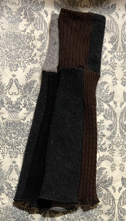 heavy black, brown and grey 100% cashmere gloves