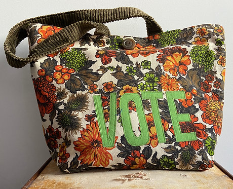VOTE TOTE- orange sofa