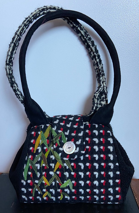 black and red sassy dot bag