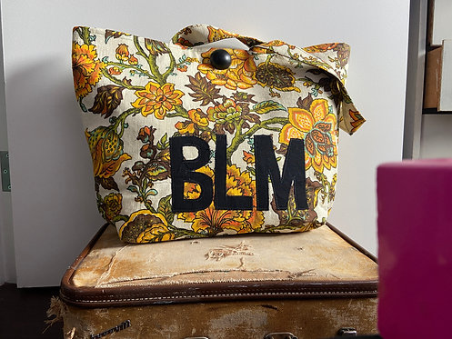 BLM - yellow/turq floral