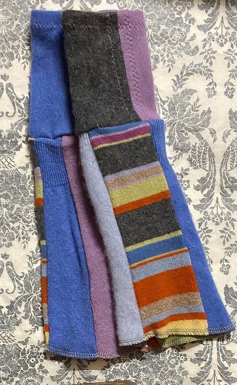 striped wool and cashmere gloves