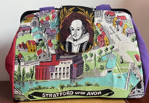 Amazing Shakespeare tea towel dot bag