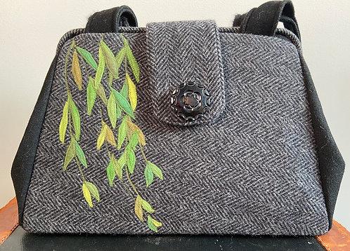 weeping willow 2020 black and grey herringbone evelyn bag 2