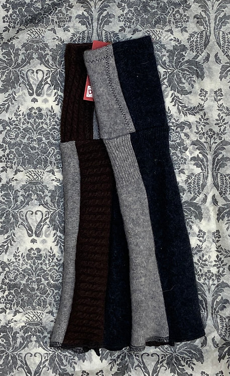 100% cashmere chunky black brown and grey
